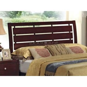 Solid Wood Bed with Slotted Headboard with Mattress